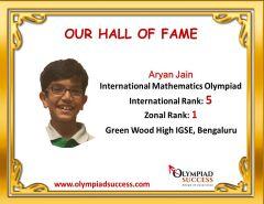 Aryan Jain, Class 4, Green Wood High Igse Bengaluru Karnataka