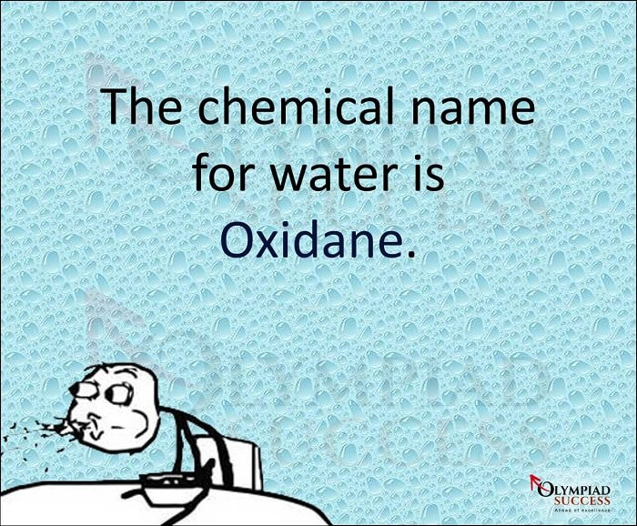 Chemical name of Water