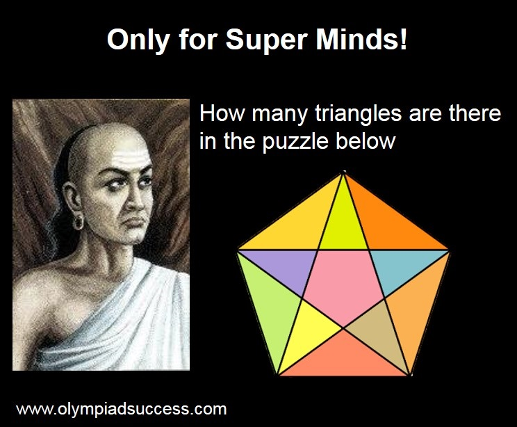 Find the no. of triangles in above image - Olympiad Success